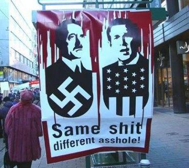 comparando a Bush con Hitler; Bush la puede ganar!