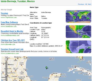 La isla Bermeja en webs de agencias de viajes