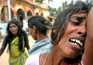 V�ctimas de Hambruna en Sri Lanka
