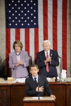 Sarkozy en el Congreso de Los Estados Unidos