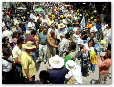 Recibimiento a AMLO en Cerritos San Luis Potosi