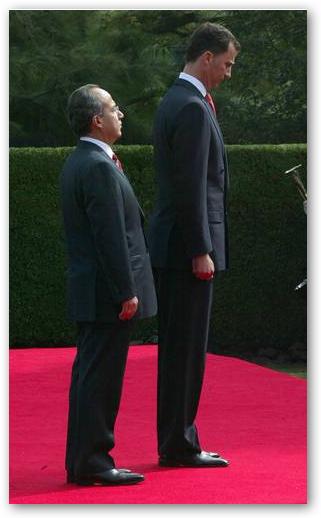 Será que uno es muy alto o el otro muy bajo???