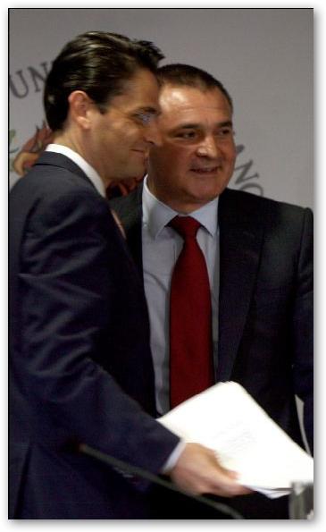 El jefe de Lorena González con su colega Mouriño