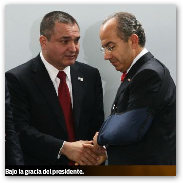 Garcia Luna Secretario de Seguridad de Calderón