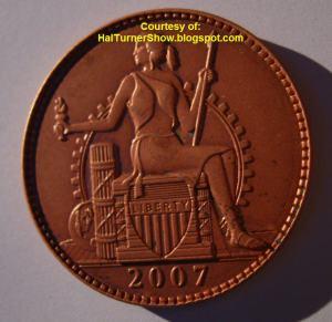 La nueva moneda de la Unión de América del Norte, el Amero, parte frontal