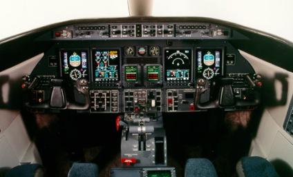 Cabina de un Learjet 45
