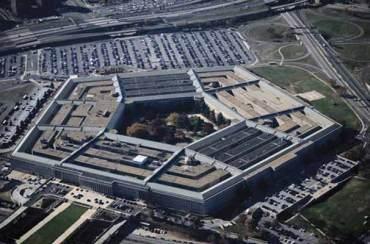 Vista aérea del Pentágono, sede de Departamento de Defensa de USA