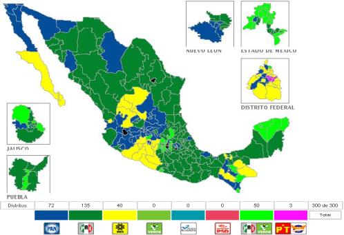 Mucho verde y azul, poco amarillo y nada de PT-Convergencia