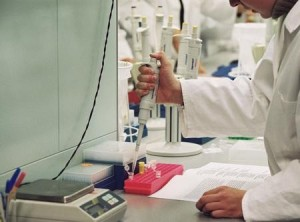 a Research-in-a-genetic-engineering-laboratory
