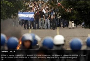 Represion Honduras