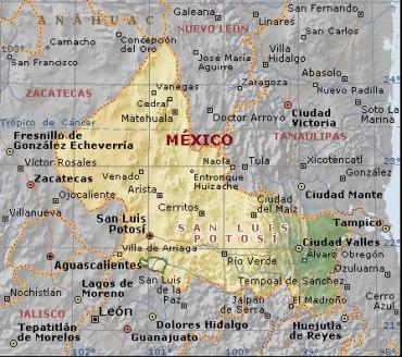 San Luis Potosi mapa