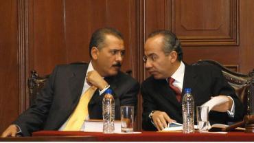 Felipe calderón en reunión con Beltrones