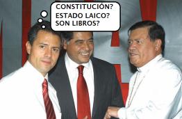Peña Nito con el Arsobispo Norbeta Rivera