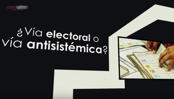via electoral o antisistema, falso dilema