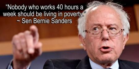 Nadie que trabaja 40 horas semanales debería vivir en la pobreza.