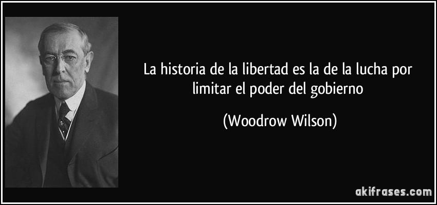 limitar el poder woodrow wilson